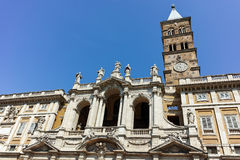 ROME, ITALY - JUNE 22, 2017: Frontal view of Basilica Papale di Santa Maria Maggiore in Rome. Italy Royalty Free Stock Photo