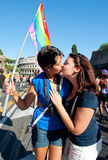 Rome, Italy - June 23 2012. Gay pride day, parade people in Rome Stock Image