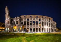 ROME, ITALY - JUNE 6, 2016: Night view Coliseum Stock Images