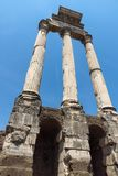Panoramic view of Roman Forum in city of Rome, Italy. ROME, ITALY - JUNE 24, 2017: Panoramic view of Roman Forum in city of Rome, Italy Royalty Free Stock Photo