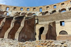 ROME, ITALY - JUNE 24, 2017: People visiting inside part of  Colosseum in city of Rome Stock Image
