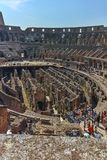 ROME, ITALY - JUNE 24, 2017: People visiting inside part of  Colosseum in city of Rome Royalty Free Stock Image