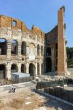 ROME, ITALY - JUNE 24, 2017: People visiting inside part of  Colosseum in city of Rome. Italy Royalty Free Stock Photos