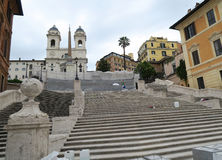 Rome, Italy 17 June 2016. Piazza di Spagna steps closed for restoration. Piazza di Spagna square is open to the public but the Spanish Steps can only be seen royalty free stock photo