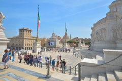 Rome, ITALY - JUNE 01: Piazza Venezia and Victor Emmanuel II Monument in Rome, Italy on June 01, 2016 Stock Images