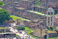 Rome, ITALY - JUNE 01: Roman Forum ruins in Rome, Italy on June 01, 2016 Stock Photos