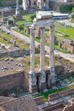 Rome, ITALY - JUNE 01: Roman Forum ruins in Rome, Italy on June 01, 2016 Stock Photography