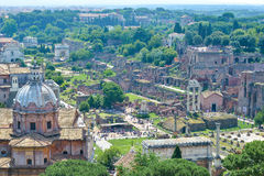 Rome, ITALY - JUNE 01: Roman Forum ruins in Rome, Italy on June 01, 2016 Stock Image
