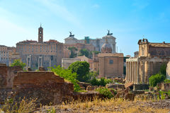 Rome, ITALY - JUNE 01: Roman Forum ruins in Rome, Italy on June 01, 2016. Roman Forum ruins in Rome, Italy on June 01, 2016 Stock Image