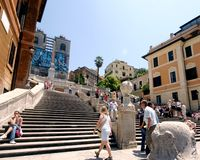 Rome, Italy-June 17, 2005: Spanish Steps royalty free stock images