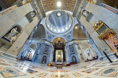 Rome, ITALY - JUNE 01: St. Peter's Basilica in Vatican, Rome, Italy on June 01, 2016 Stock Photo
