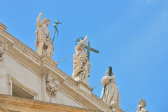 Rome, ITALY - JUNE 01: St. Peter's Square in Vatican, Rome, Italy on June 01, 2016 Royalty Free Stock Photos