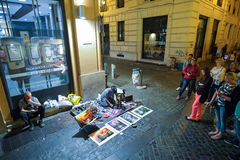 Rome, ITALY - JUNE 01, 2016: Streets of Rome Royalty Free Stock Photo