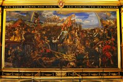 Vatican Museum. Painting of king Jan Sobieski in Vienna during war with Turks. Painting by Jan Matejko. stock image