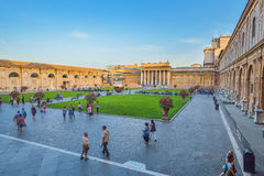 Rome, ITALY - JUNE 01: The Vatican Museum in Rome, Italy on June 01, 2016 Royalty Free Stock Photos