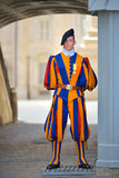 Rome, ITALY - JUNE 01: Vatican Swiss guard in Vatican, Rome, Italy on June 01, 2016 Royalty Free Stock Image