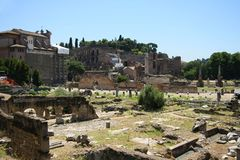 View of the Roman Forum in Rome Stock Photos