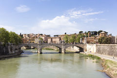 Rome, Italy: Landscape of the river Tiber Stock Photography