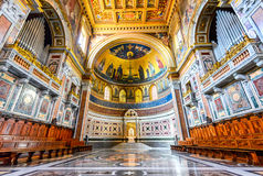 Rome, Italy - Lateran Basilica, Papal Cathedral. ROME, ITALY - 6 APRILI 2016: The Papal cathedral, the presence of which renders the Archbasilica St. John royalty free stock photography