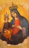 ROME, ITALY: The Madonna with the child icon in church Basilica di Santa Maria del Popolo by A. Raggi Royalty Free Stock Photo