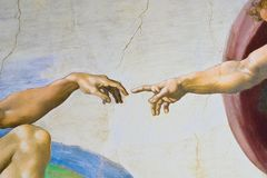 Free Rome Italy March 08 Creation Of Adam By Michelangelo Stock Image - 160399961