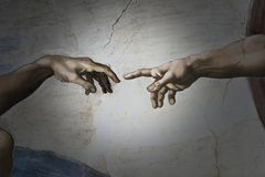 Free Rome Italy March 08 Creation Of Adam By Michelangelo Stock Photography - 160401352