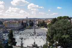 Piazza del popolo in rome Royalty Free Stock Photos