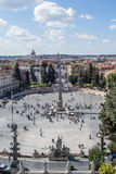 Piazza del popolo in rome Royalty Free Stock Photography