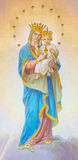 ROME, ITALY - MARCH 12, 2016: The fresco of Madonna on the main altar by unknown artist from begin of 20. cent. Royalty Free Stock Photography