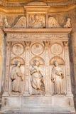 ROME, ITALY - MARCH 9, 2016: The marble altar of Costa chapel in church Basilica di Santa Maria del Popolo Stock Image