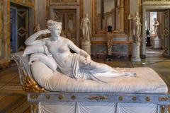Villa Borghese - Rome, Italy. Rome, Italy - March 25, 2018: Marble statues in Villa Borghese in Rome, Italy stock photography