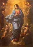 ROME, ITALY - MARCH 10, 2016: The painting of Immaculate Conception ih church Basilica di San Marco by Pier Francesco Mola royalty free stock photography