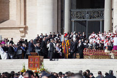 Pope Francis Installation Ceremony Stock Image
