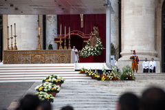 Pope Francis Speach - Installation Ceremony Stock Image
