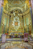 ROME, ITALY - MARCH 10, 2016: The presbytery in church Chiesa di Santa Caterina da Siena a Magnapoli. The high altar was construct Stock Photo