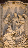 ROME, ITALY - MARCH 10, 2016: The relief of scene from life of St. James the Lees the Apostle by Salvatore Bercari 18. cent.  Stock Images