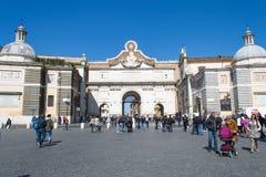 Piazza del popolo in rome Stock Image