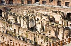 ROME ITALY-MARCH 22, 2015: Turister i Colosseumen Denna är en Unesco-världsarv italy rome Royaltyfria Bilder