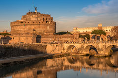 Rome, Italy: Mausoleum of Hadrian or Castle of the Holy Angel Royalty Free Stock Photography