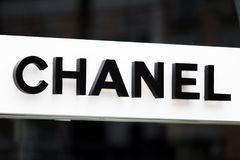 Rome, Italy - May 13, 2018: Chanel fashion store in Rome. stock image