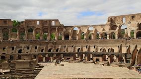 ROME, ITALY - MAY 06, 2019: Colosseum or Coliseum interior overview. Rome, Italy stock video