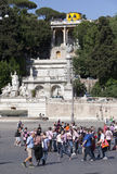ROME, ITALY- MAY 29: A crowd of tourists on Piazza del Popol� on May 29, 2011 in Rome, Italy Stock Photo