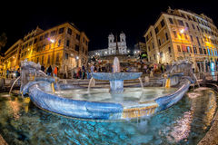 ROME, ITALY MAY 26, 2012 - Crowded piazza di spagna night view Stock Image