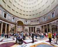 Interiors and details of Pantheon royalty free stock photo