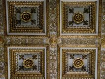 The main vault of the Basilica di Santa Maria Maggiore in Rome, Italy stock images