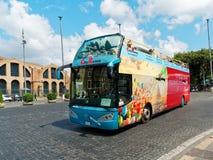 Touristic bus Rome Stock Photo