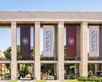 Main entrance of the Sapienza University of Rome Royalty Free Stock Photography