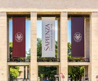 Main entrance of the Sapienza University of Rome Stock Photo
