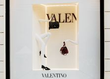 Rome, Italy - May 13, 2018: Valentino fashion shop window in Rome. stock image