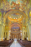 ROME, ITALY: The nave of church Basilica di Santa Maria Ausiliatrice with the frescoes Stock Image